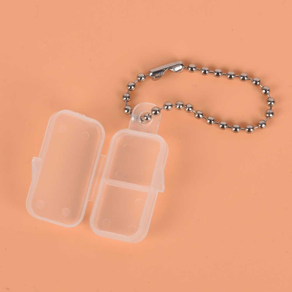 Hearing Aid Trasparente Batterie Pulsante Scatola di Immagazzinaggio Della Batteria Cassa di Batteria di Plastica del Supporto di Protezione Dura di Caso Fit Per Il 312 #10 #675 #