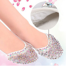USHINE fish beaded ballet pointe toe shoes half foot toed shoes practice ballet belly shoes women ballerina