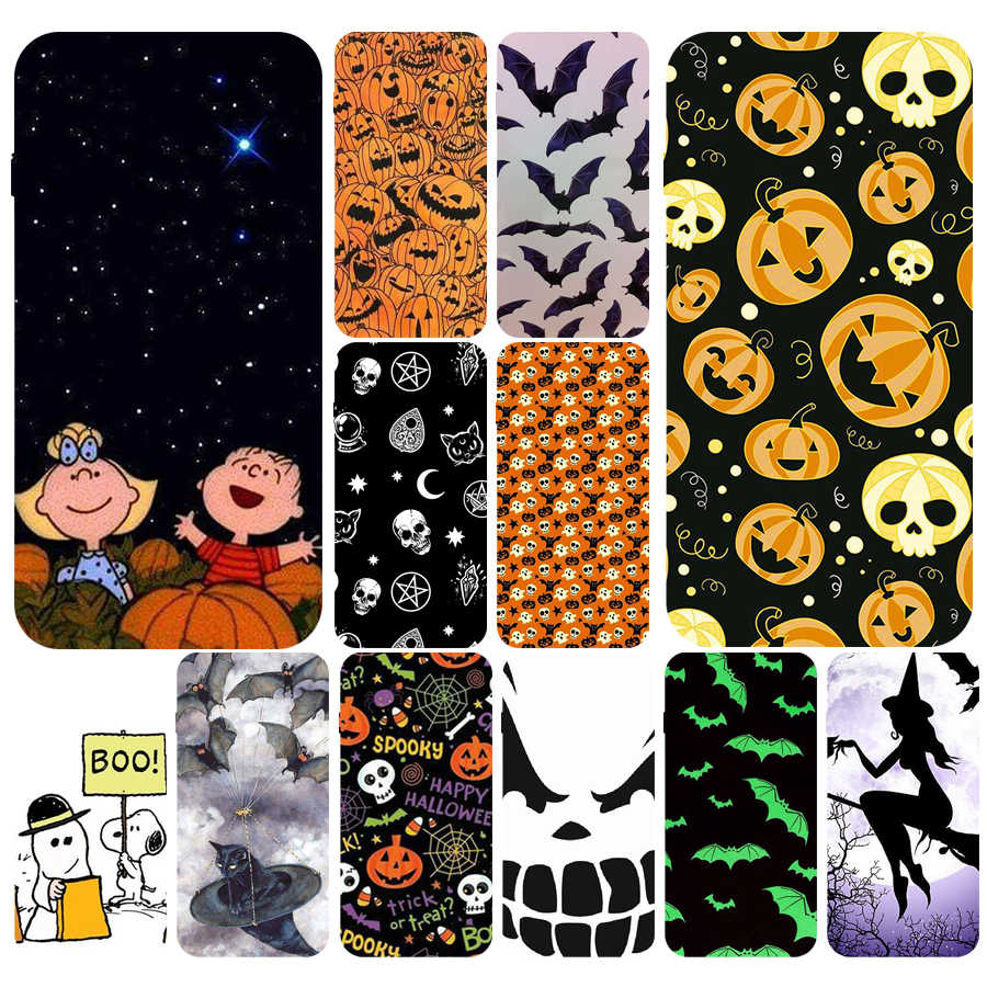Pumpkin Halloween Bat Witch Boo Soft TPU Silicone Cover Case For Apple iPhone5 5s se 6 6s 7 8 plus x xr xs max coque