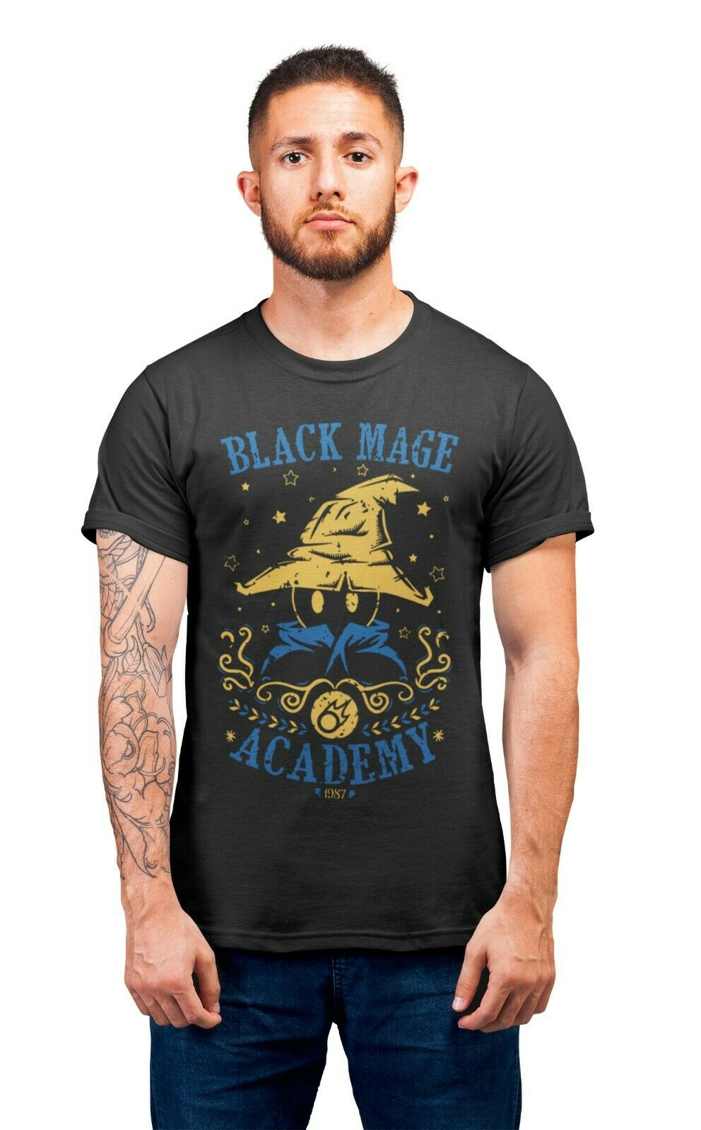 Black Mage Academy Final Fantasy Rpg Gaming T-Shirt Adults Unisex T-Shirts image