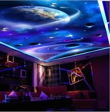 Custom any size HD Starry 3D Floor ceilings Mural 3d ceiling murals wallpaper