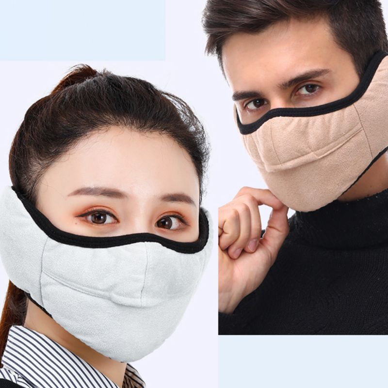 Winter Windproof Earmuffs Two-in-one Adults Masks Glasses Anti-fog Warm Mask