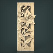 Moldura da decoração do quadro 3d modelo para o roteador cnc, escultura e gravação no formato de arquivo stl