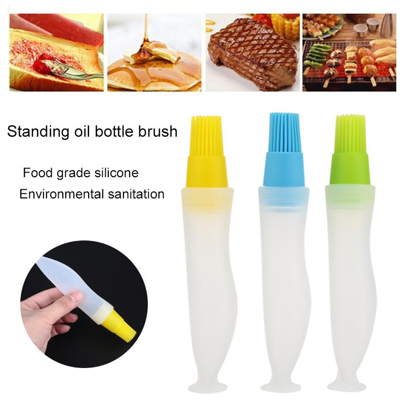 BBQ Oiler Oil Brush Oil Bottle Environmental Economic Silicone Accessories Cake Pastry Home Cooking-4