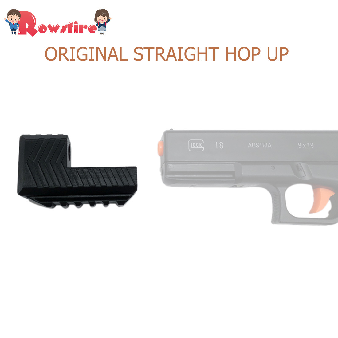 Original Straight Hop Up For SKD Glock G18 Water Gel Beads Blaster - Black