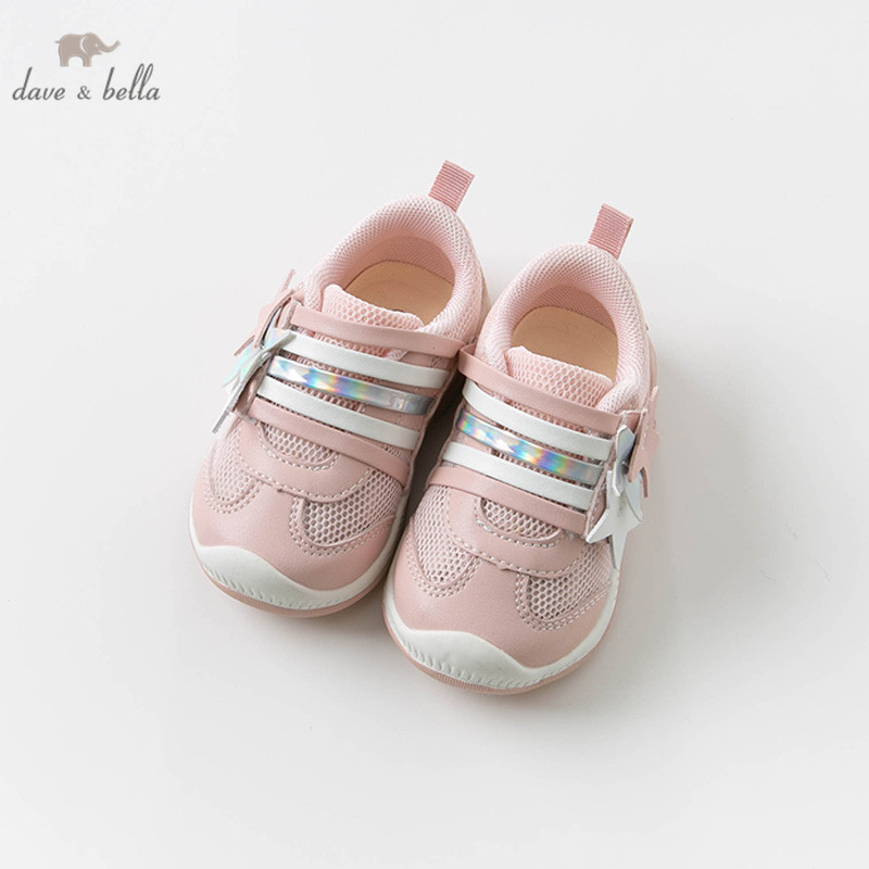 DB13783 Dave Bella Spring Baby Girl Shoes New Born Casual Running Shoes Pink Shoes