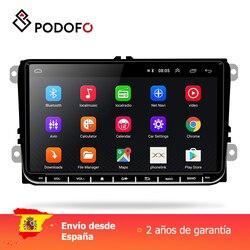 Podofo 9 2 din autoradio Android GPS Navigatie Wifi Multimedia Speler voor VW Skoda Octavia golf 5 6 touran passat B6 jetta