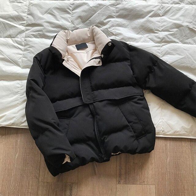 2020 femmes épais hiver manteau col montant femmes veste manteau surdimensionné manteau ample vêtements d'extérieur femme Casaco Feminino Parkas 3