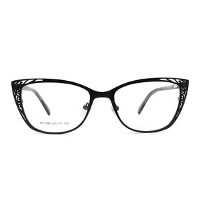 Image 3 - ESNBIE Metal Vintage Cats Eye Glasses Frames For Women Fashionable Spectacle Frames Cat Eye Woman Optical Eyeglasses Frames