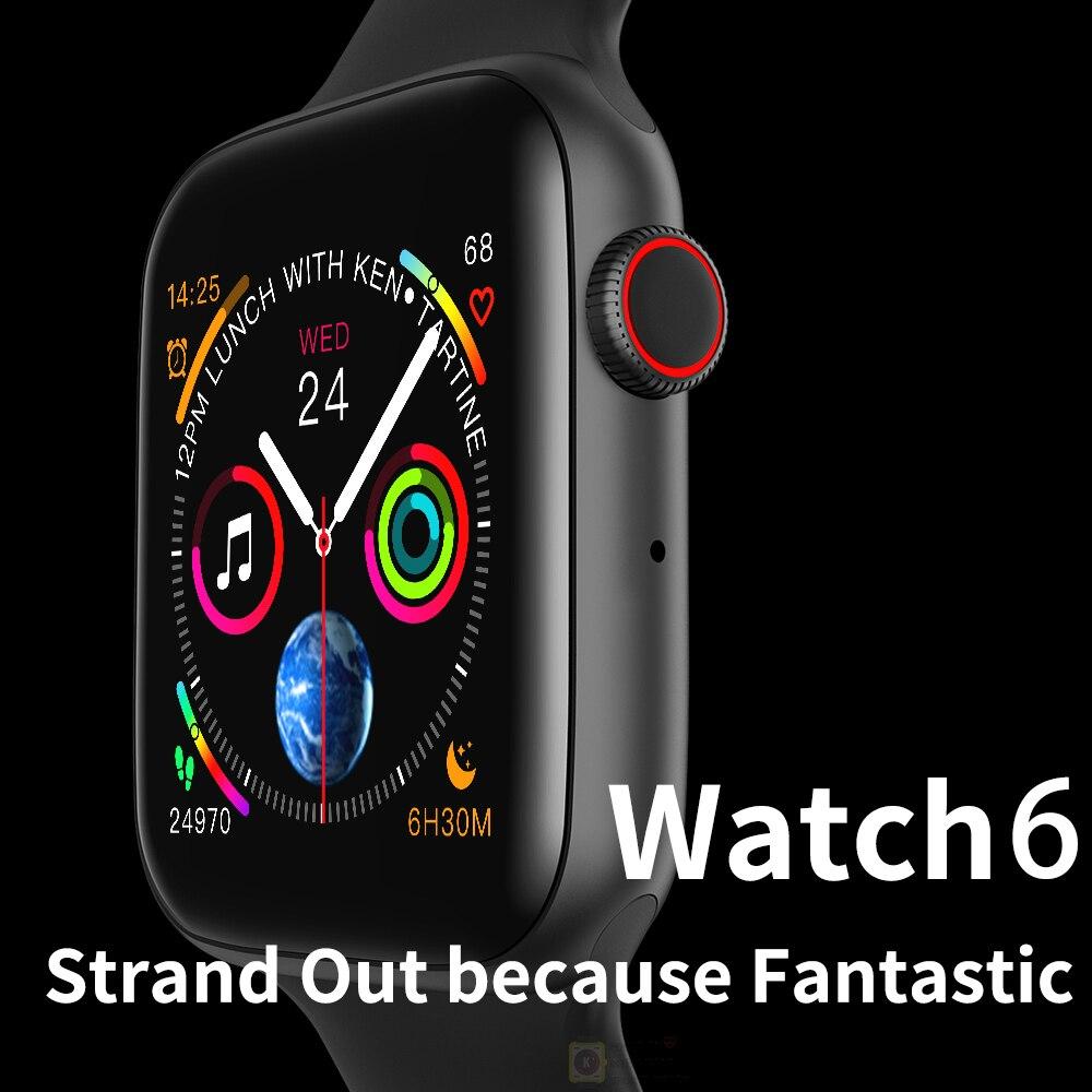 2020 New Series 6 Smart Watch Men Women Android Inteligente Smartwatch IOS Smart Watch For Apple IOS IWO 8 IWO 10 IWO12