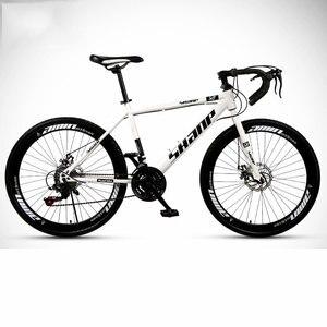 26 дюймов, 24 скорости, фиксированная передача, дорожный велосипед, двойные дисковые тормоза для взрослых студентов, велосипед