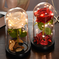 Eternal Flower Rose Glass Glass Cover LED Light Rose Artificial Flower In Dome For Christmas Mother's Valentine's Day Gift