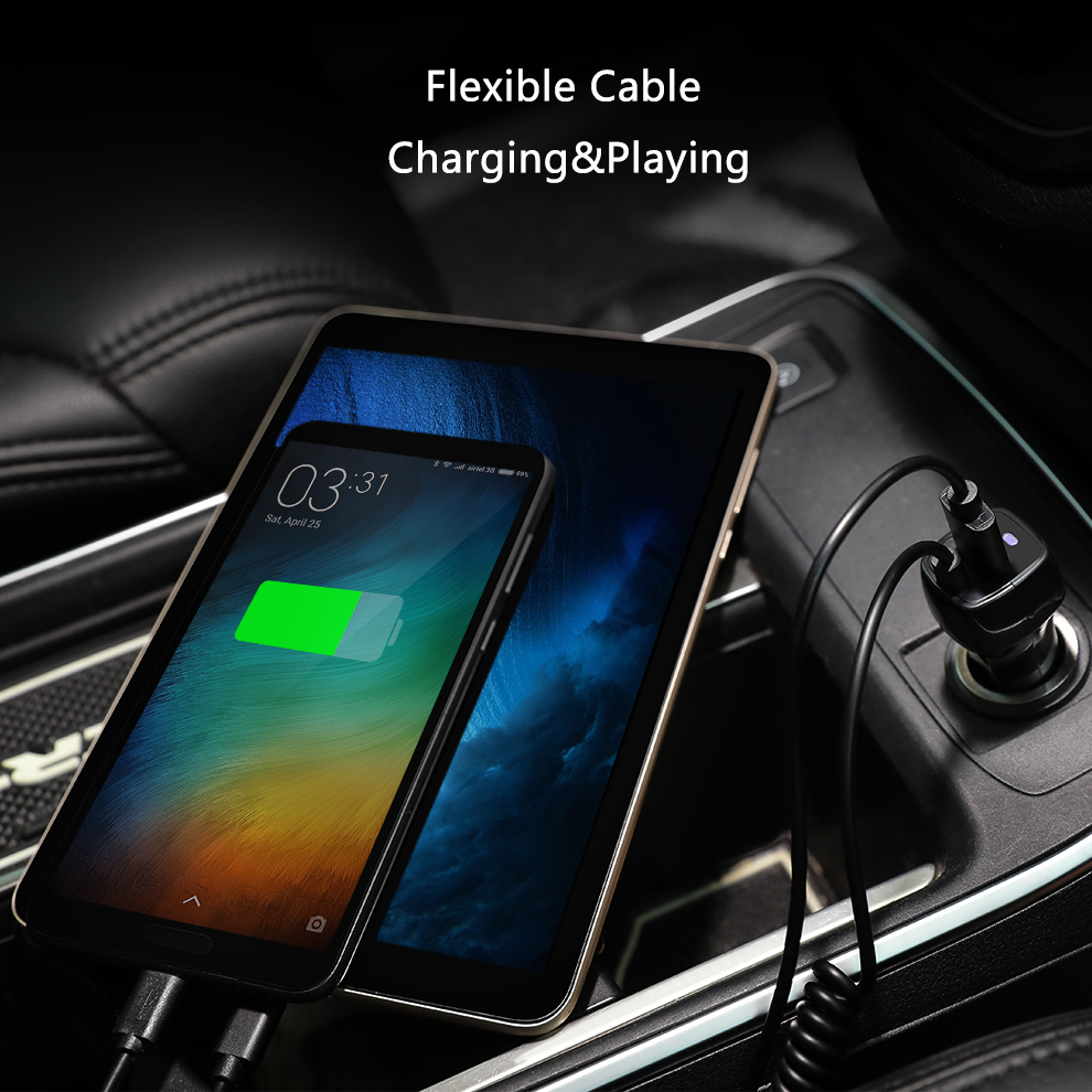 SeenDa Universal Car Charger with Cable Cellphone USB Fast Charger For Samsung S9 S8 Plus S6 S7 Edge Plus For iPhone 6 6s 7 8