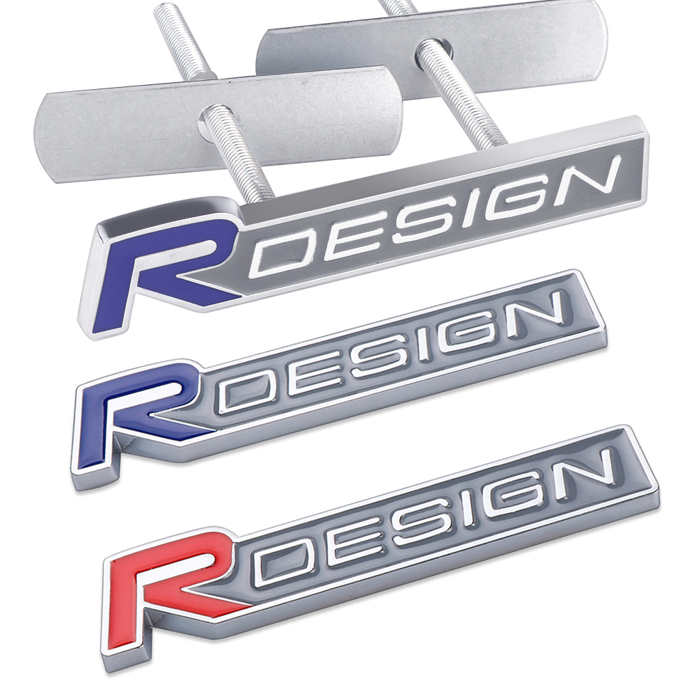 Car Styling R design Sticker Badge Emblem For <font><b>Volvo</b></font> Rdesign XC90 S60 XC60 V70 S80 S40 V50 <font><b>V40</b></font> V60 C30 S70 S90 V90 Accessories image