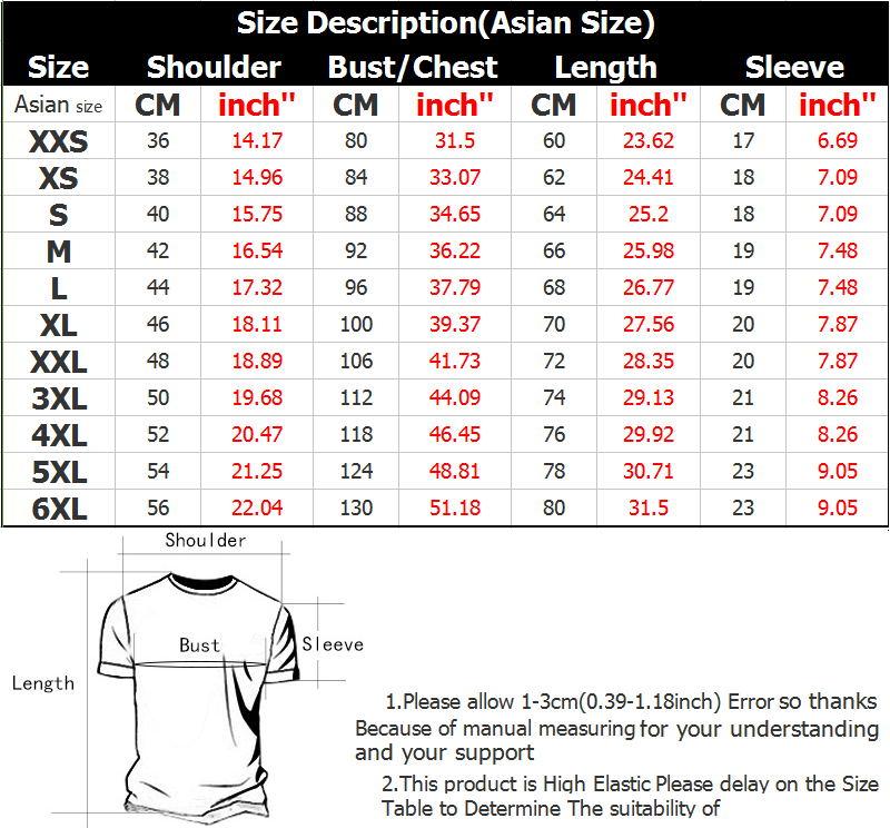 T恤衫英文版尺寸表_