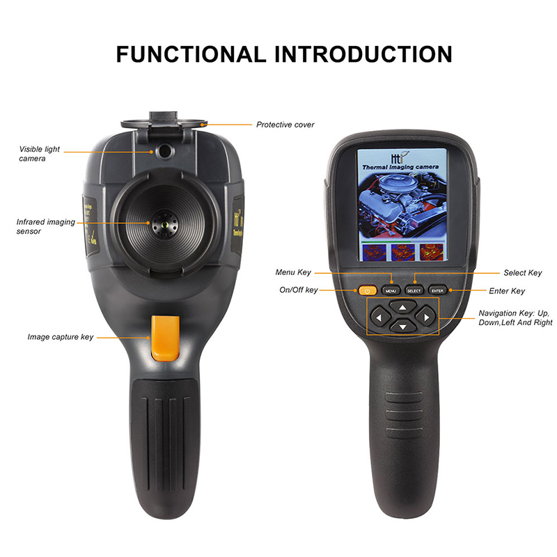 Handheld IR Thermal Imaging Camera With High-Resolution TFT Color Screen Display 1