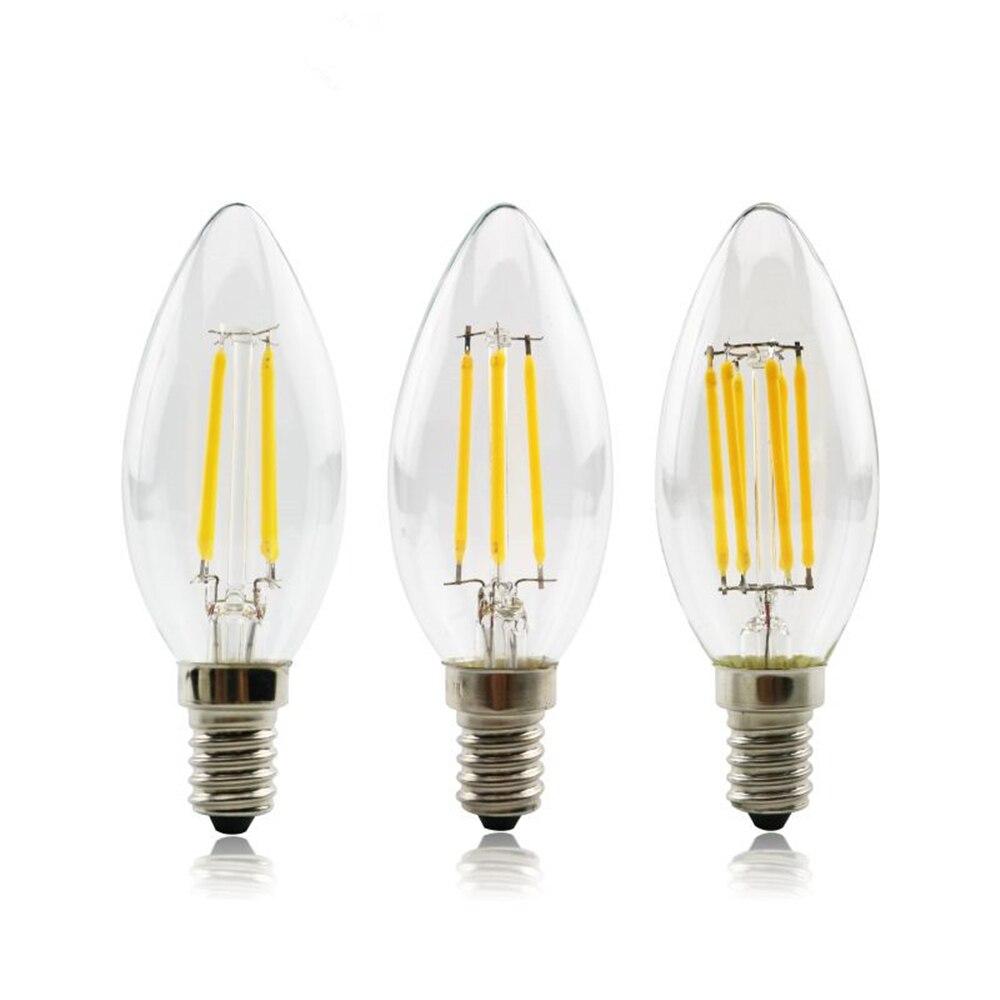 Светодиодный светильник 4 Вт, 8 Вт, 12 Вт, E14, светодиодный светильник 220 В, винтажный Эдисон, светильник светодиодный, лампы C35 C35L для внутреннег...