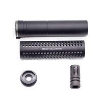High Quality KAC Silence with QD Flash Hider for AEG Airsoft Air Gun Paintball Accessories Left Hand 14MM Thread
