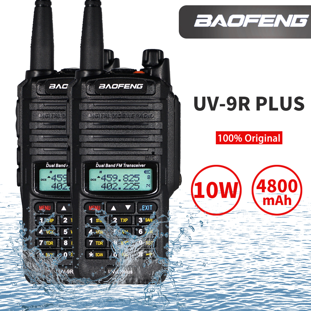 IP67 Waterproof Baofeng UV-9R Plus Walkie Talkie Dual Band Two Way Radio 10W UHF VHF UV 9R Portable CB Ham Radios HF Transceiver