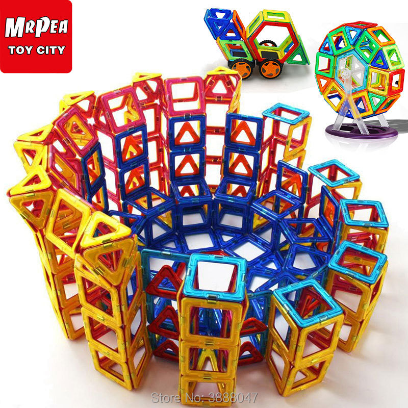 Magnetic Constructor Designers Building Blocks Bricks Big Size Set  21-88 Pcs Accessory Educational Games Toys For Children Kids