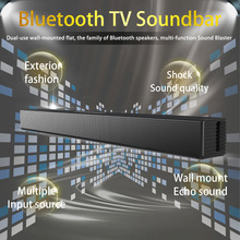 Bluetooth-Speaker Subwoofer Tv Soundbar Home Theater Wall-Mounted 40W Support AUX