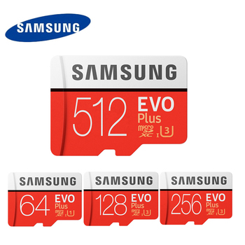 SAMSUNG EVO Plus Memory card 64gb 128gb 256GB 512GB Class10  UHS-1 100MB Micro SD Cards U3 4k MicroSDXC TF Card for Smartphone