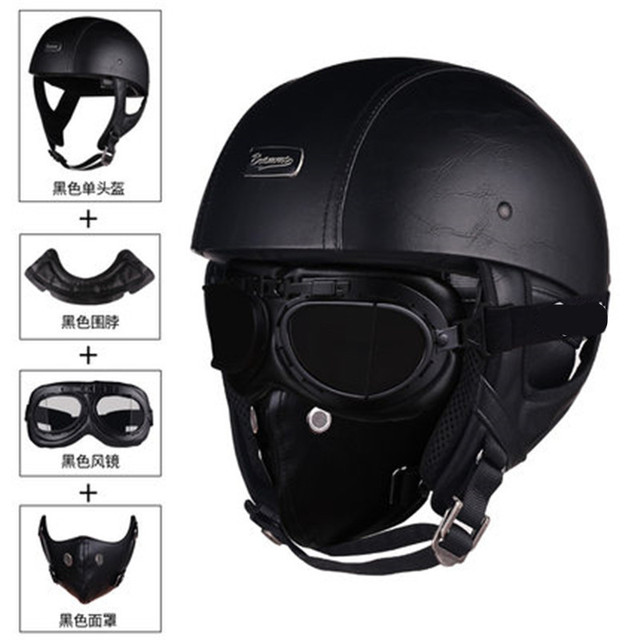 $ US $47.50 Free shipping vintage 1/2  Motorcycle Helmet half face Chopper Bike Retro motocicletas Free freight DOT approved