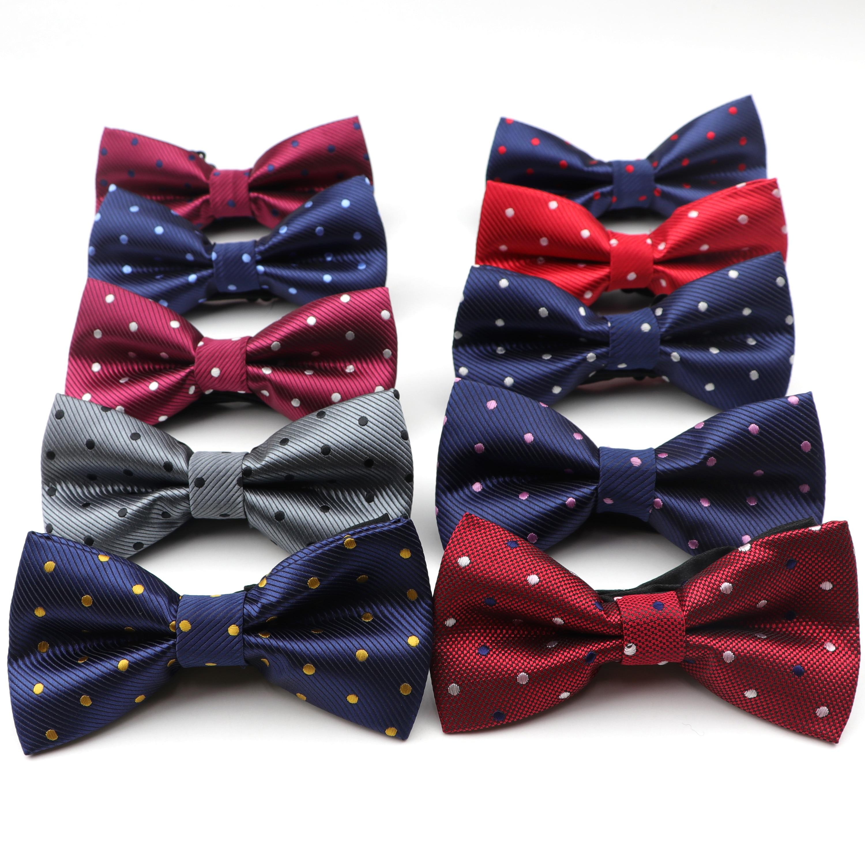Men's Bowtie Fashion Classic Butterfly Gravata Party Wedding Bow Tie Dot Pattern Bowknot Accessories Necktie