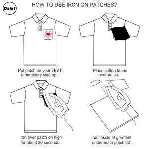Image 5 - (30 Differents Packs können Wählen) Stickerei Parches Eisen auf Patches für Kleidung DIY Streifen Kleidung Aufkleber Appliques Abzeichen