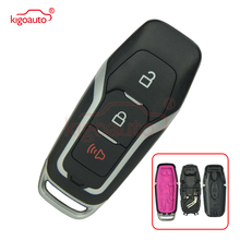 carbon fiber car key case tpu overlay accessories for ford f 150 ecosport ranger explorer Kigoauto M3N-A2C31243300 smart key case shell 3 button for Ford Fusion Explorer F-150 F-250 164-R8111 car key replacement