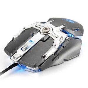Image 3 - מקצועי משחקי עכבר קווית 6400dpi ארגונומי מכאני RGB עכבר גיימר הגדרת מאקרו מחשב משחק עכבר למחשב נייד