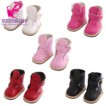 7 Cm Doll Shoes for 43 Cm Baby Doll Leather Boots 18 Inch Girl Doll Shoes Toy Boots Doll Accessories(China)