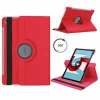Per Huawei Mediapad M5 10.8 Tablet Caso 360 Girante Staffa di Caso di Cuoio Della Copertura per Huawei Mediapad M5 Pro 10 10.8 Tablet funda Coque