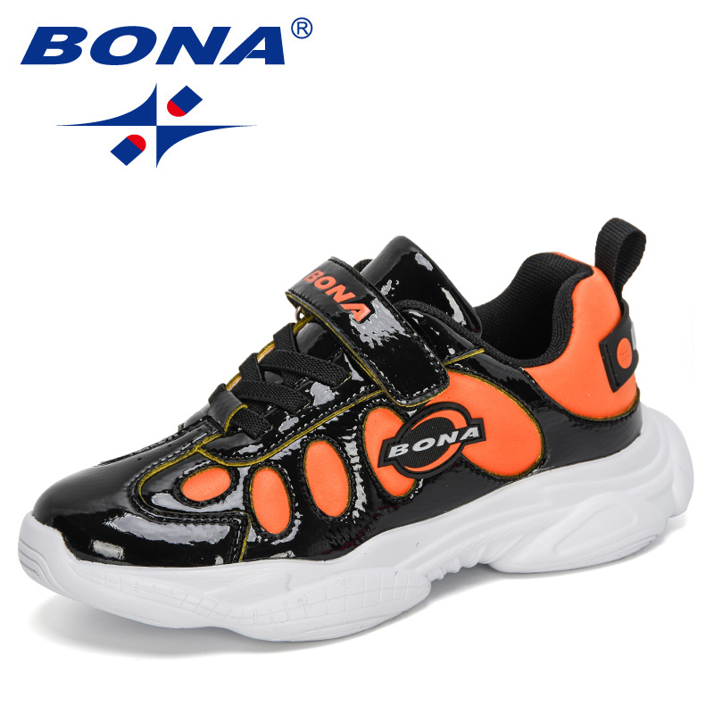 BONA 2020 New Designers Children Sneakers Girls Sport Shoes Child Leisure Trainers Casual Kids Running Shoes Boys Walking Shoes