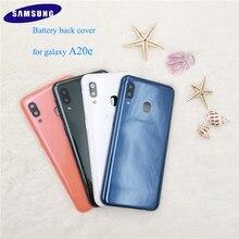 A20 e caso original samsung galaxy a20e capa de bateria de plástico proteção completa substituição da porta traseira escudo, botões laterais & logotipo