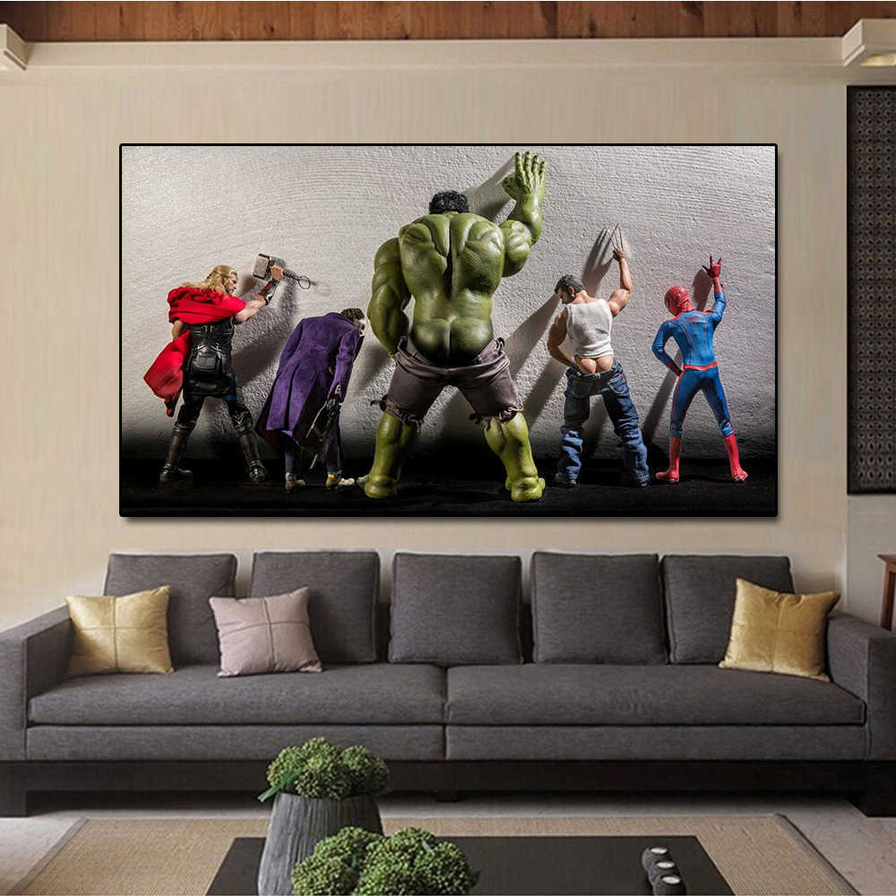 2019 New Top Super Hero Marvel Comics Funny Pop Hot Wall Art Print Poster Canvas Painting Wall Picture Decor No Frame