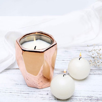 Creative Geometry Smoke Free Fragrance Candle Glass Bottle Cross Border Unisex Packaging Plant Essential Oil Soy Wax Fragrance C