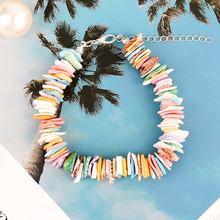 Гавайские красочные ракушки браслеты из бисера cowrie sea shell