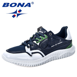 Image 5 - BONA 2019 New Designers Mens Shoes Comfortable Outdoor Casual Mens Shoes Lace Up Cushion Sneakers Male Leisure Footwear Trendy