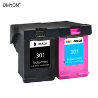 DMYON Compatibe replacement for hp 301 301 XL black & color Ink Cartridge DESKJET 1000 1050 1050A 2050A 3050 3054A 301XL printer