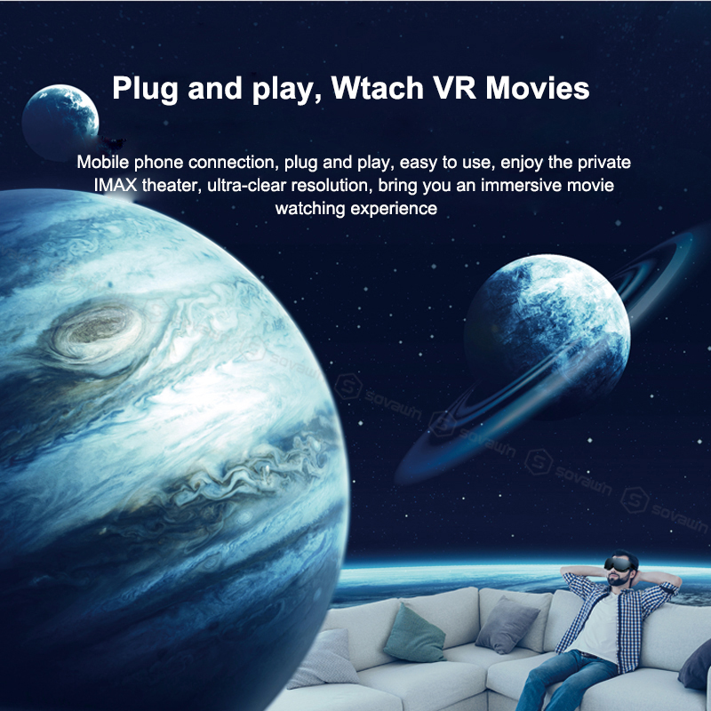 Shinecon VR Headset AI08 Giant Screen Same Screen Stereo Cinema 3D Glasses Pro Virtual Reality VR For iPhone Android Smartphone 2