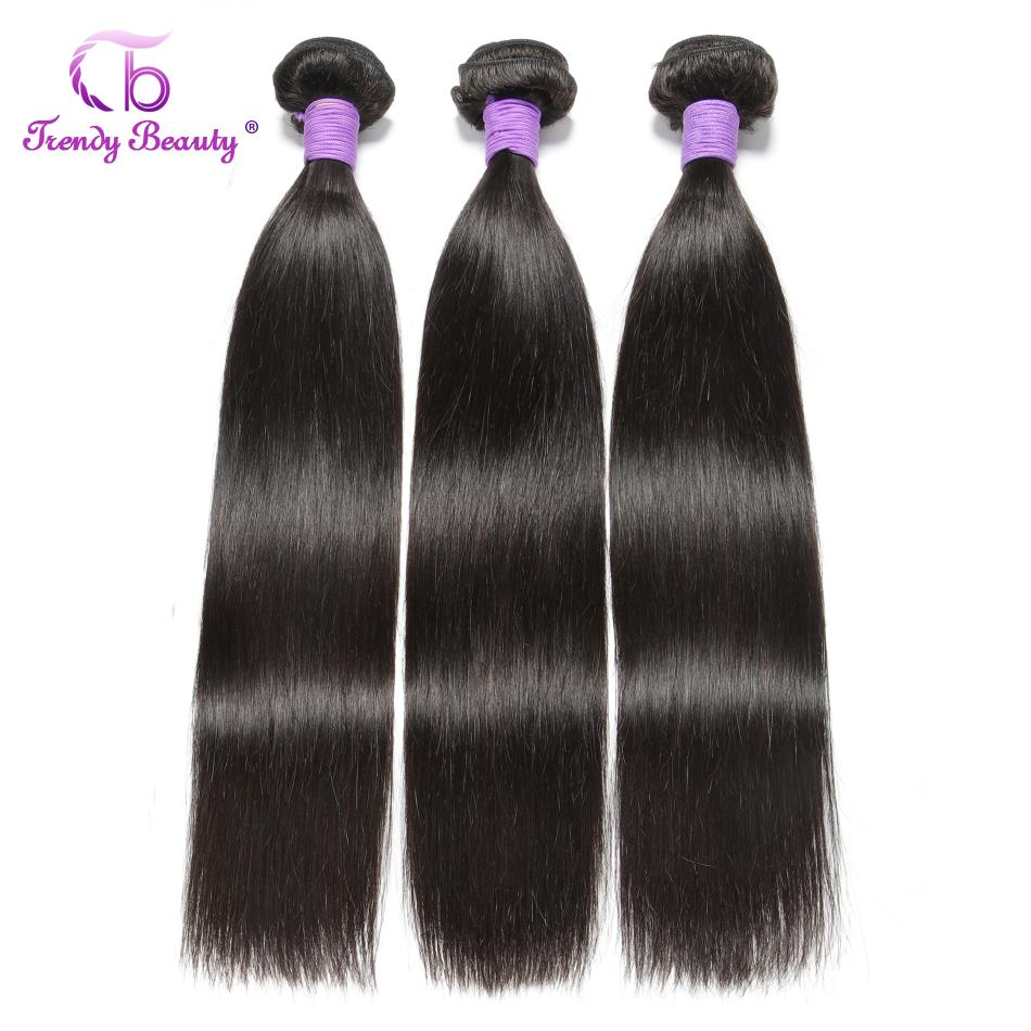 Straight Hair 3/4 Bundles 100%  Bundles Non- 8-30 Inches Double Weft  Trendy Beauty 3