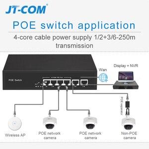 Image 5 - 48V Netwerk POE Switch Ethernet met 10/100 / 1000Mbps 5/6/8/10 poorten IEEE 802.3af / at Geschikt voor IP camera / Draadloos AP / CCTV camerasysteem met 100W stroomadapter