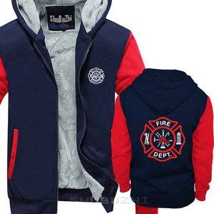 Image 3 - VIGILE DEL FUOCO VIGILI del FUOCO di SALVATAGGIO EMT del pullover degli uomini di caldo coathick giacca di modo di marca top con cappuccio sbz5694