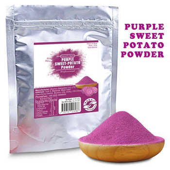 Organic Dried Purple Sweet Potato Powder Natural Fruit Vegetable Dehydrated for Baking Drink Herb Health Food Dietary Supplement