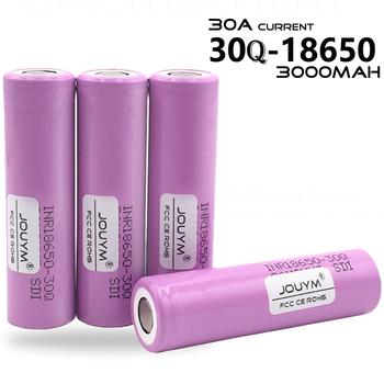100 oryginalna bateria INR 18650 3 7V 3000mAh INR18650 30Q akumulatory litowo-jonowe wysokość rozładowania mocy 30A większy prąd tanie i dobre opinie NoEnName_Null INR 18650-30Q 3000mAh Li-ion 3000 mah CN (pochodzenie) Tylko baterie 1-10 Pcs 18 29*65 10 mm INR18650-30Q