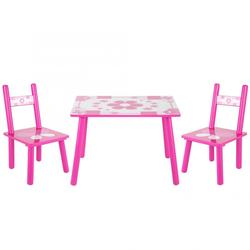 Childrens Wooden Table and Chair Set for Kids Childs Studying eat play games painting learning Home School  chair and table
