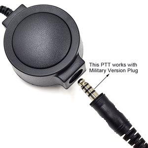 Image 3 - 2 Pin Walkie Talkie Tactical Big PTT Cable for Kenwood TK2107 Baofeng UV 6R UV 5R BF 888S UV B5 UV S9 Ham Radio Hunting CS