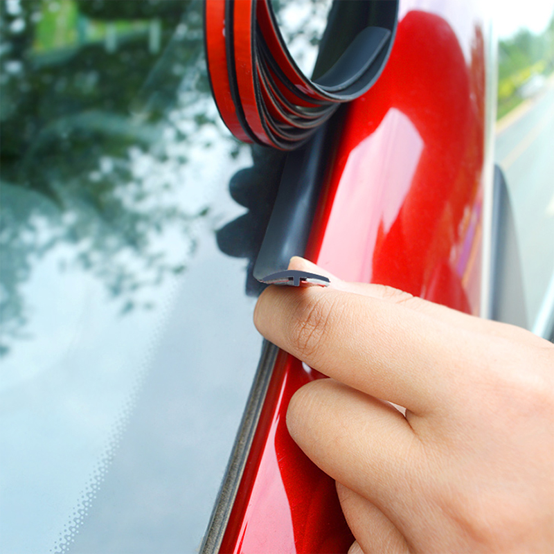 14mm 19mm Car Window Sealant Rubber Stickers Sunroof Triangular Window Sealed Strips Seal Trim Car Front Rear Windshield Sticker