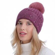Sparsil осенне зимние вязаные шапочки для женщин из мягкой кроличьей